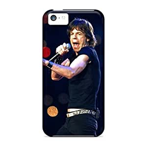 MMZ DIY PHONE CASEScratch Protection Hard Phone Cover For ipod touch 5 (WkW13480qeQB) Support Personal Customs Colorful Rolling Stones Pattern