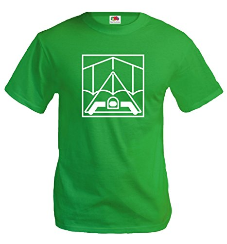 buXsbaum T-Shirt Hang Gliding-Pictogram-XXL-Kellygreen-White