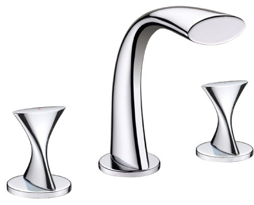 Ultra Faucets UF55510 Twist Collection Two-Handle Widespread Bathroom Sink Faucet, Chrome