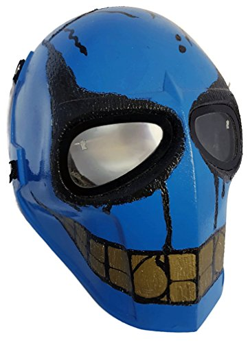 [Invader King Paintball Mask Airsoft Mask Protective Gear Outdoor Sport Fancy Party Ghost Masks Bb] (Smiley Horror Mask)