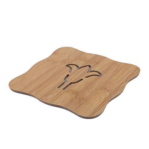 eDealMax creux restaurant de maison en bois design Coussin chaleur résistant Pot Coupe Mat