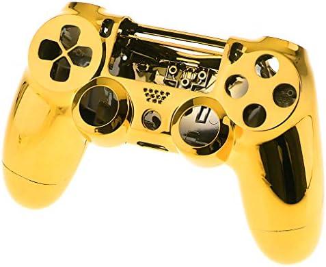ソニーPS4 Pro対応 シェルケース 金色 保護カバー  コントローラ ハウジング
