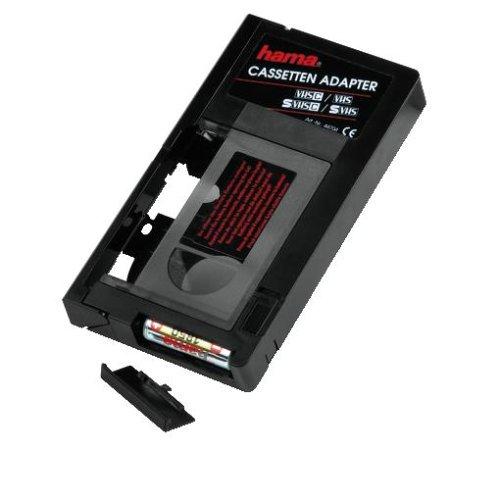 Hama Automatischer Kassettenadapter (geeignet für VHS-C Videokassetten/Batteriebetrieben/Auto) schwarz