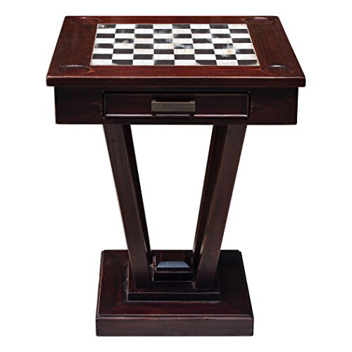 Uttermost Fineas Wood Chess/Checker Table