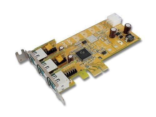 PUB1200X+L LP SUNIX SP 1x24V /& 2x12V Powered USB PCI-E Card
