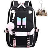 BTS School Backpack Features USB And Audio Cable
