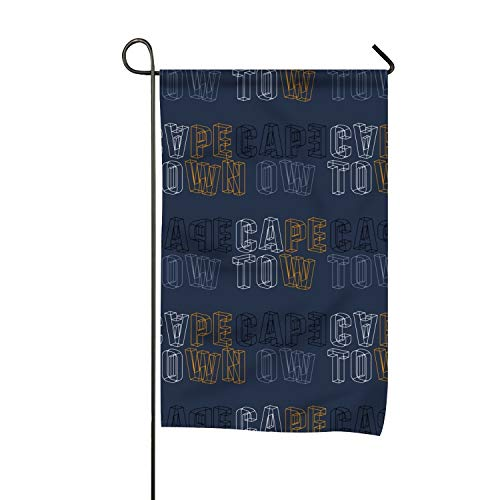BYUII Welcome Garden Flag Cape Town Creative Double Sided Spring Decorative Rustic/Farm House Decor Flags 12 X 18 -