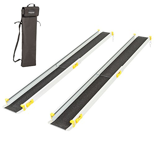 Silver Spring 3-5 ft. Telescoping Wheelchair Track Ramps with Storage ()