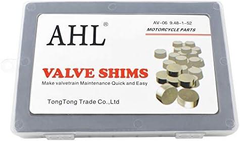 AHL Adjustable Valve Shim Kit 9.48mm O.D. 1.20mm-4.00mm Thick for Suzuki LT-Z400 QuadSport Z 2003-2012 (52pcs)