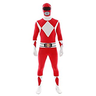 "Official Power Ranger Morphsuit Costume,Red,Large 5'4""-5'10"" (163cm - 177cm)"