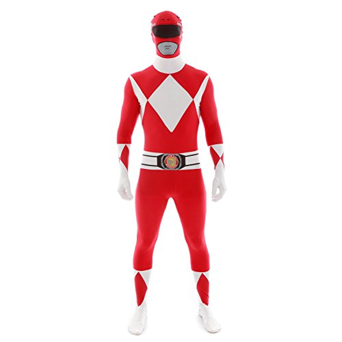 Official Power Ranger Morphsuit Costume,Red,Large 5'4