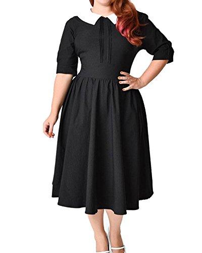 midi 50s style dress - 7