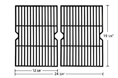 Hongso PCB152 Universal Gas Grill Grate Cast Iron Cooking Grid Replacement, Sold As a Set of 2