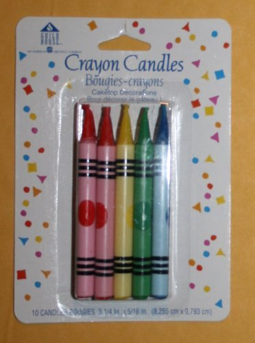 Crayon Candles-10 Count