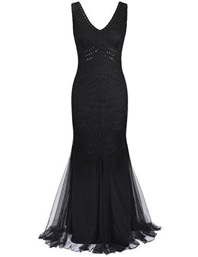 long black mermaid bridesmaid dresses - 1