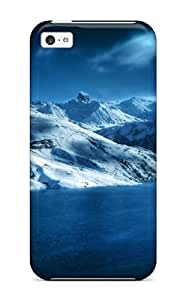 Premium Mountains And Lakes Back Cover Snap On Case For Iphone 5c