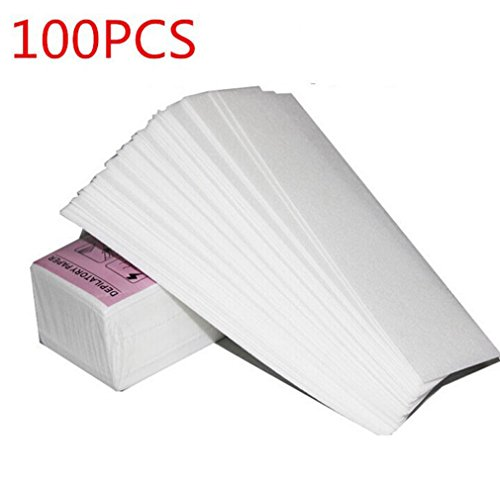 100pcs Non Woven Facial Body Hair Removal Paper Depilatory Epilator Wax Strip White