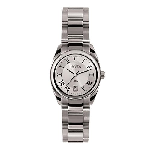 Michel Herbelin Women's Ambassador 26mm Steel Bracelet & Case Quartz Silver-Tone Dial Watch 12828/B01