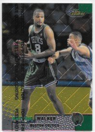 Antoine Walker 1999-00 Finest Boston Celtics Card #90