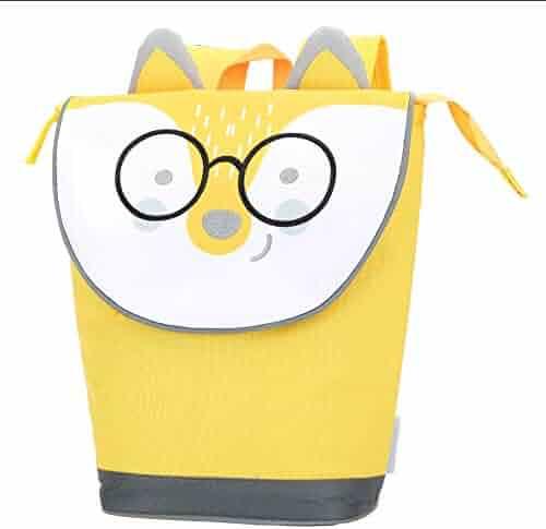 Cute Kids Toddler Backpacks with Leash Preschool Lunch Bag for Boy Girls  (Yellow-Fox 8285022961360