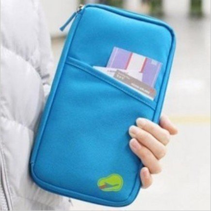 BlueTop Travel Passport Case Credit ID Boarding Card Cash Organizer Shopping Bag Documents Receipts Ticket Packet Wallet Markers Holder