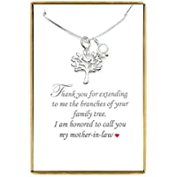 Tree of Life Necklace, Mother in Law Gift Necklace, Sterling Silver Tree of Life Necklace 18 inches plus 2 inches extender