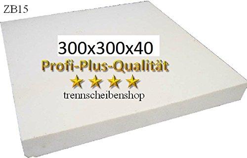 ZB15_Schä rfplatte, 300 x 300 x 40 mm. fü r Diamanttrennscheiben, Bohrkronen, Dosensenker Schleiftö pfe usw. UC12