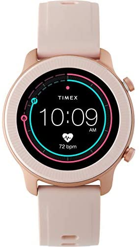 Timex Metropolitan R AMOLED Smartwatch with GPS & Heart Rate 42mm – Rose Gold-Tone with Blush Silicone Strap