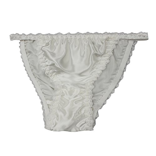 68dd57fbe Forever Angel Women s 100% Pure Silk Knitted Panties Beige Plus Size L