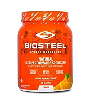 Biosteel High Performance Sports Drink Powder, Naturally Sweetened with Stevia, Orange, 700 Gram