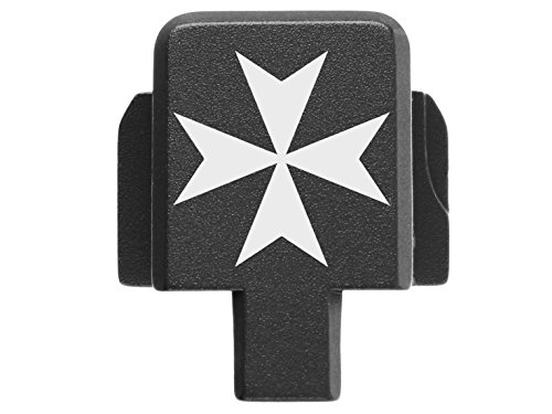 NDZ Performance for Sig P320 Back Plate 9MM .357 .40 .45 Black Maltese Cross 1