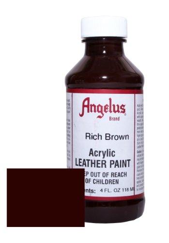 Angelus Pintura acrílica para cuero marrón intenso 118ml