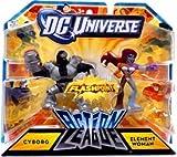 DC Universe Action League FLASHPOINT Mini Figure 2Pack Cyborg Element Woman