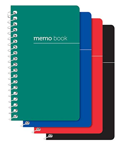 Office Depot Brand Wirebound Side-Opening Memo Books, 3in x 5in, College Ruled, 60 Sheets, Assorted Colors (No Color Choice), Pack of 3