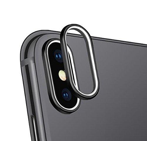 Sakula Camera Lens Protector Plating Aluminum for iPhone X Cameral Case Cover Ring Black