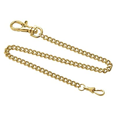 Gotham Stainless Steel Gold-Plated 14 Inch Pocket Watch Chain # GWCGTCHAIN