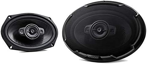 Black Kenwood KFC-6986PS 6x9 Oval 4-way Speakers 600W For Car