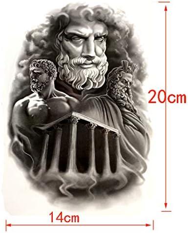 lijinjin Zeus Temple Impermeable Etiqueta Engomada del Tatuaje ...