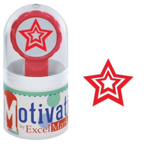 Inked Pre Star (Motivations Pre-inked Teacher Stamp - Star - Red Ink)