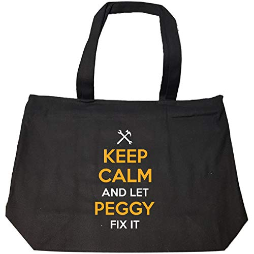 Keep Calm And Let Peggy Fix It Cool Gift - Tote Bag With Zip