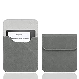 WALNEW 7'' Kindle Oasis Sleeve Case Ultra Light and Slim Protective Pouch Carrying Bag for Kindle Oasis Released in 2017, Gray