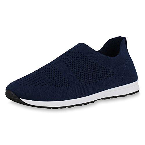 Chaussures De Sport Pour Hommes Scarpe Vita Slip Tricoter Ons Profil Unique Bleu