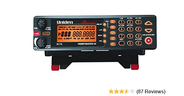 Uniden Bearcat BCT8 BearTracker Warning System with 800 MHz TrunkTracker III