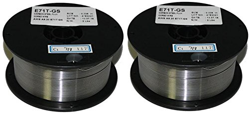 2 Rolls of ER71T-GS Flux-Core Gasless Mild Steel MIG Welding Wire 0.035