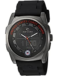 'KAOS' Quartz Stainless Steel and Polyurethane Casual Watch, Color:Black (Model: A2817)