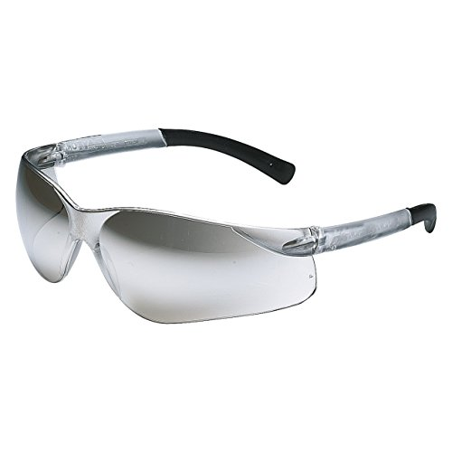 Clear Silver Mirror Lens (Galeton 9200047 Sportster Lightweight Wraparound Anti-Scratch Lens Safety Glasses, Silver Mirror)