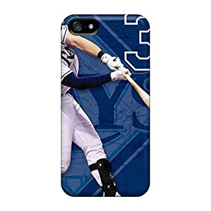 Iphone 5/5s WmS12627RfNO Custom Lifelike Tampa Bay Rays Pattern Scratch Protection Cell-phone Hard Cover -KennethKaczmarek