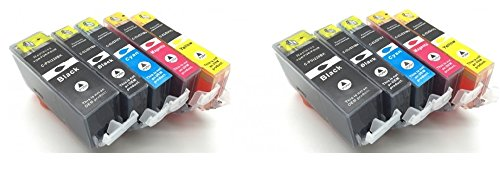 10 Photosharp non-OEM (not canon) IP4700 compatible ink toner cartridge to replace 2 of each Cannon PGI-220/CLI-221 (PGBK/BK/C/M/Y) Black/Cyan/Magenta/Yellow for Pixma IP-4700 inkjet printer -