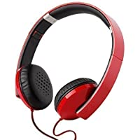 Edifier H750 Hi-Fi On-ear Headphones - Foldable Stereo Headphone - Glossy Red with Carrying Pouch