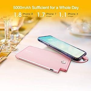 Luxtude PowerEasy 5000mAh Ultra Slim Portable Charger, BRILLIANT